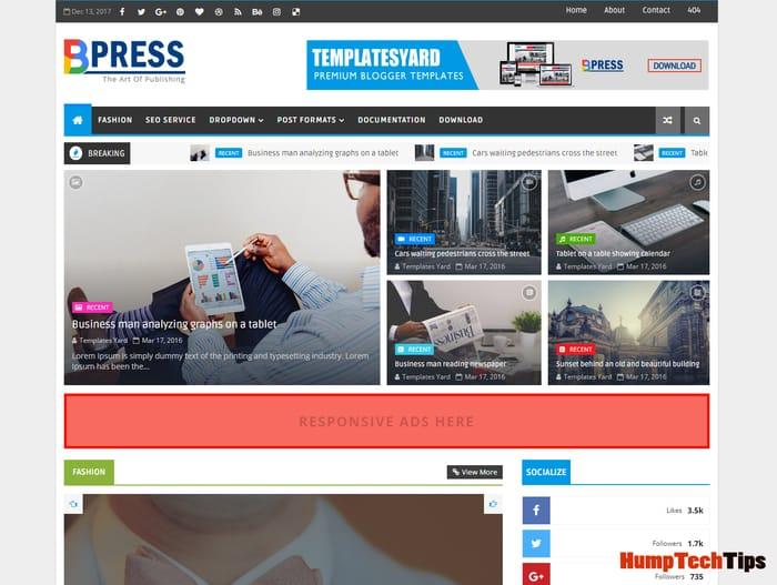 Bpress News Magazine Blogger Template