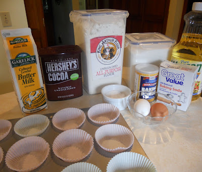 Inside Out Chocolate Cupcake Ingredients