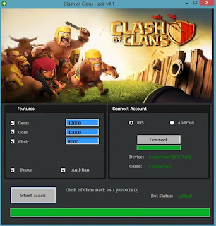 clash of clans online generator