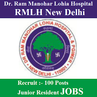 Dr. Ram Manohar Lohia Hospital, RMLH, New Delhi, Junior Resident, Graduation, freejobalert, Sarkari Naukri, Latest Jobs, rmlh logo