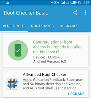 root camon c8 running marshmallow 6.0