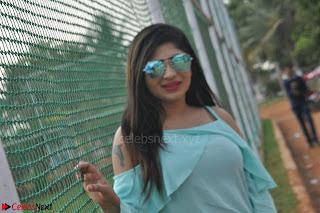 Madhulagna Das looks super cute in White Shorts and Transparent Top 17.JPG