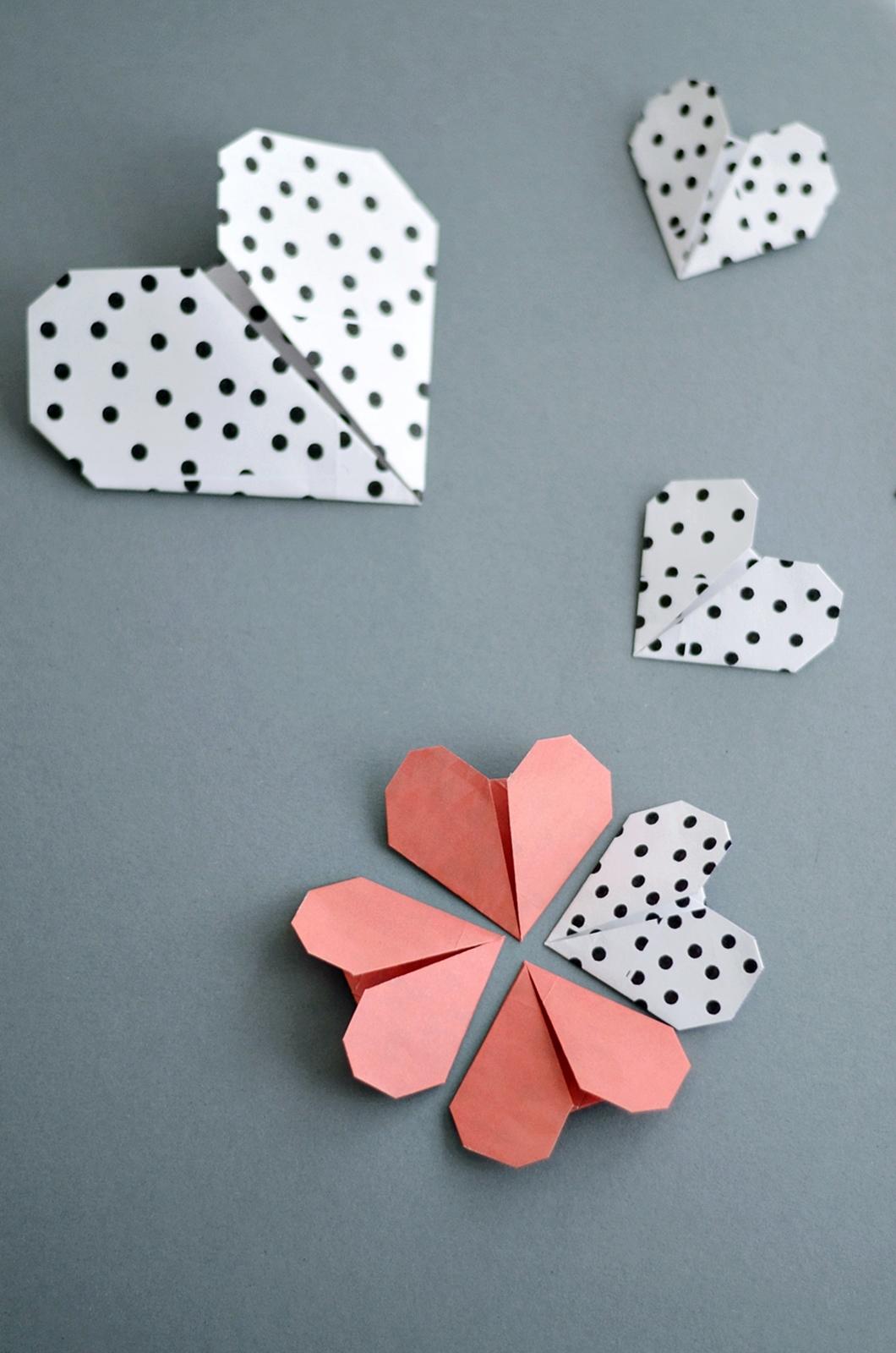 Origami Herzen falten