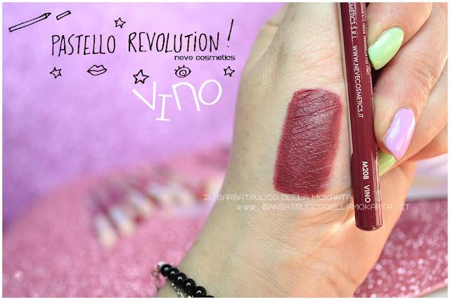 vino swatches BioPastello labbra Neve Cosmetics  pastello revolution