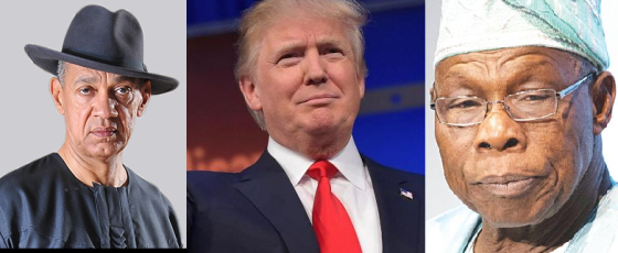 'They have insatiable taste for women and beautiful ones at that! – Ben Bruce compares Donald Trump to Obansanjo