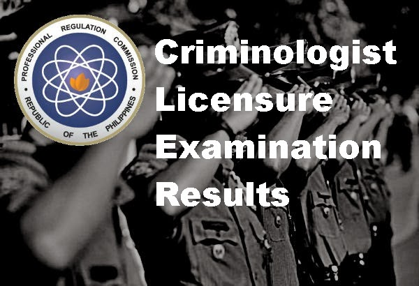 Criminologist Licensure Examination Results