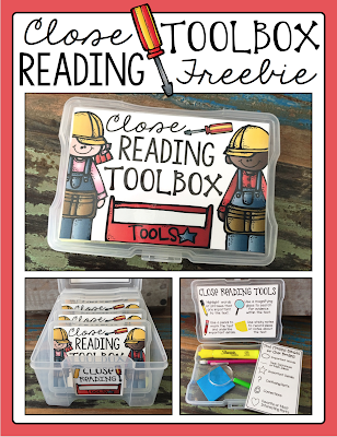 Close Reading Toolbox Freebie