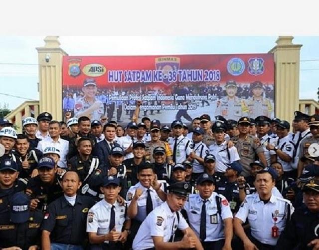 Kapoldasu Pimpin Upacara Peringatan HUT Satpam ke-38 Tahun 2019