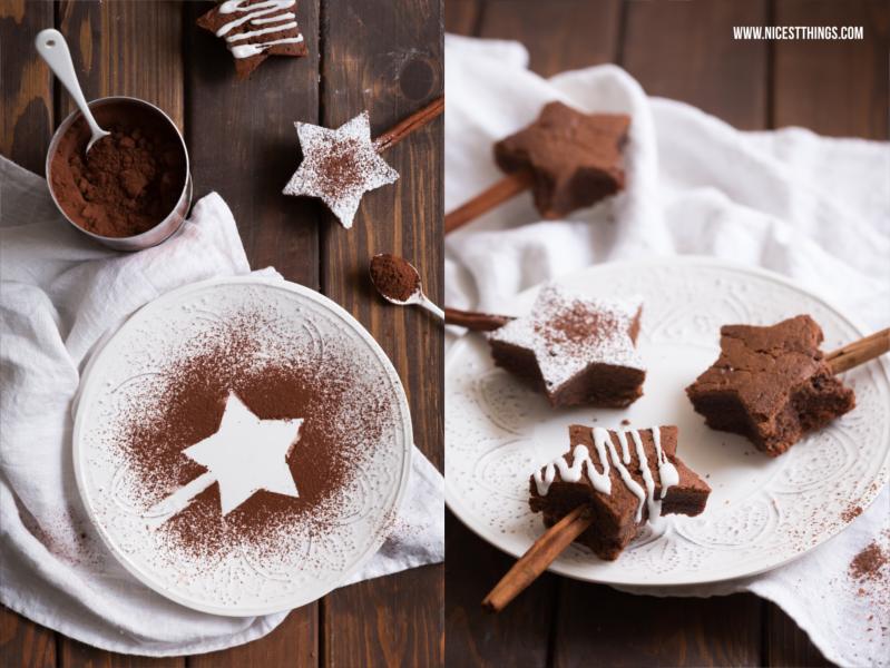 Brownie Sterne Sternenbrownies Brownies in Sternform