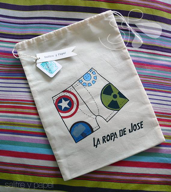 salitre y papel bolsa para ropa interior personalizada