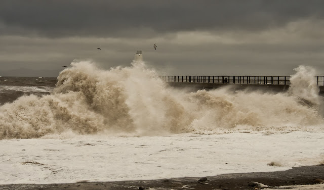 One of Phil's photos of the wild sea