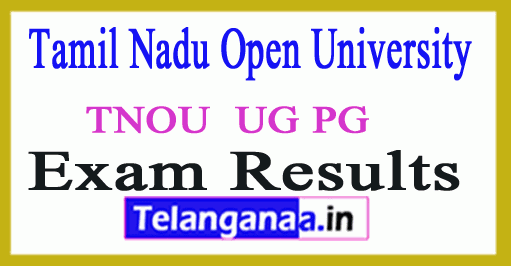Tamil Nadu Open University Results 2019 TNOU UG PG Result 2019