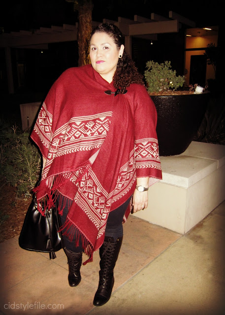 plus size style, fringe poncho, ralph lauren boots, cid style file, winter style, style over 40