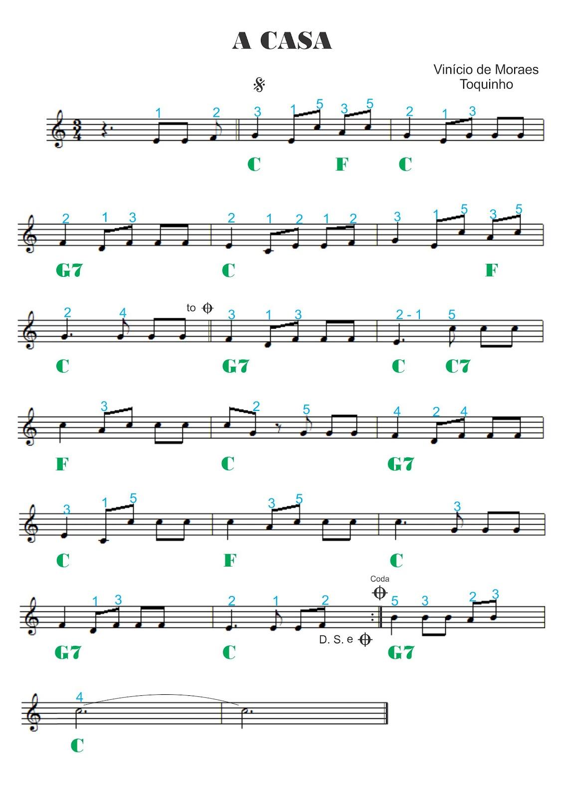 Adriano dozol dicas partituras gr tis e v deos for 1 5 piani casa piani