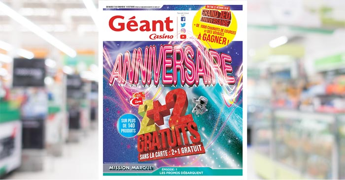 Catalogue Géant Casino Du 2 Au 14 Octobre 2018