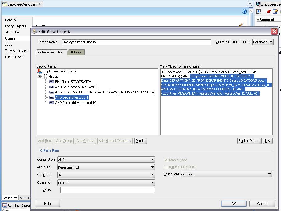 Использование во VC SQL конструкций