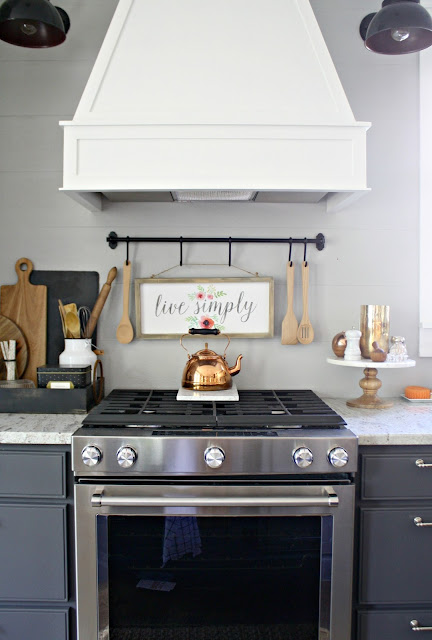 Decorating above stove
