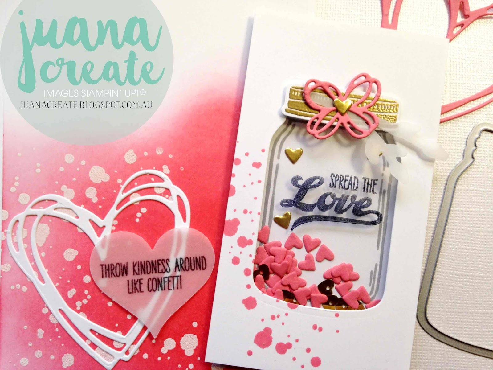 Juana Ambida: Spread The Love - Shaker card