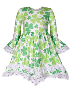 d292fae00 You little lucky charm is going to look adorable in our cute St Patricks  Day outfits. Choose your favorite Girls st Patrick's day shirt, Lucky clover  dress, ...