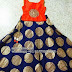 Navy Blue Silk Kids Lehenga