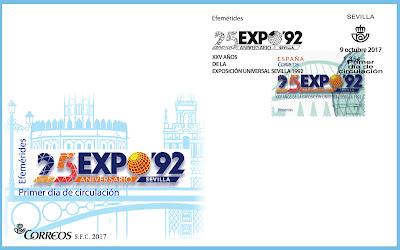 Filatelia - Sevilla -  XXV Aniversario Expo92 - 2017 - Sobre Primer día
