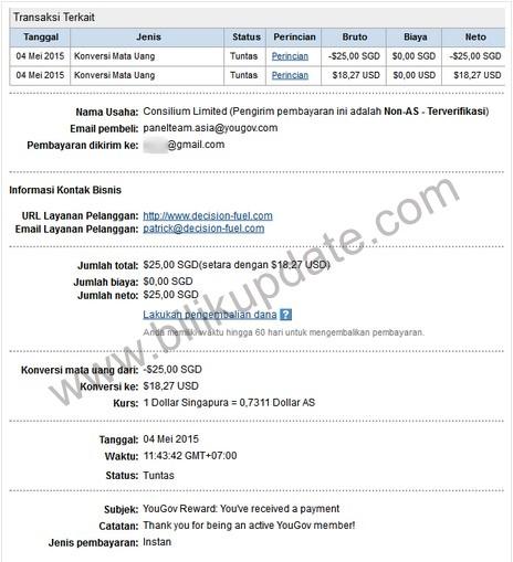 Yougov situs survey yang terbukti membayar