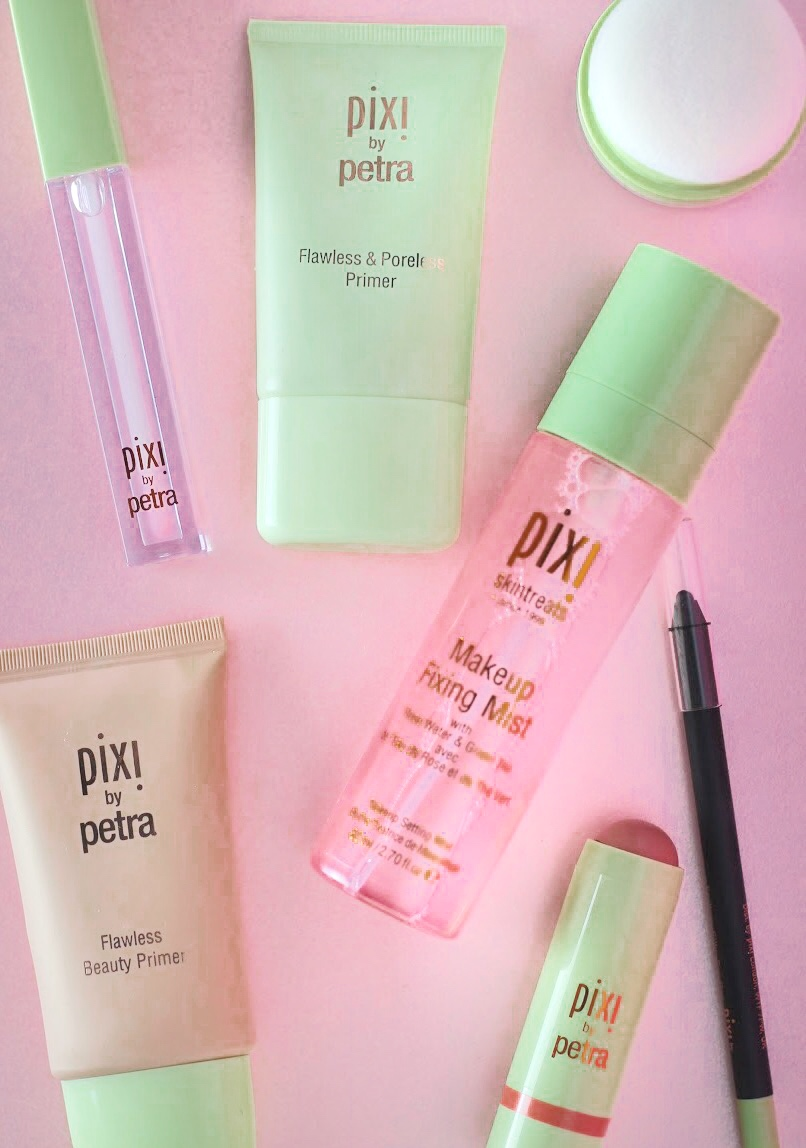 Pixi by Petra makeup review by Liverpool beauty blogger tie dye eyes