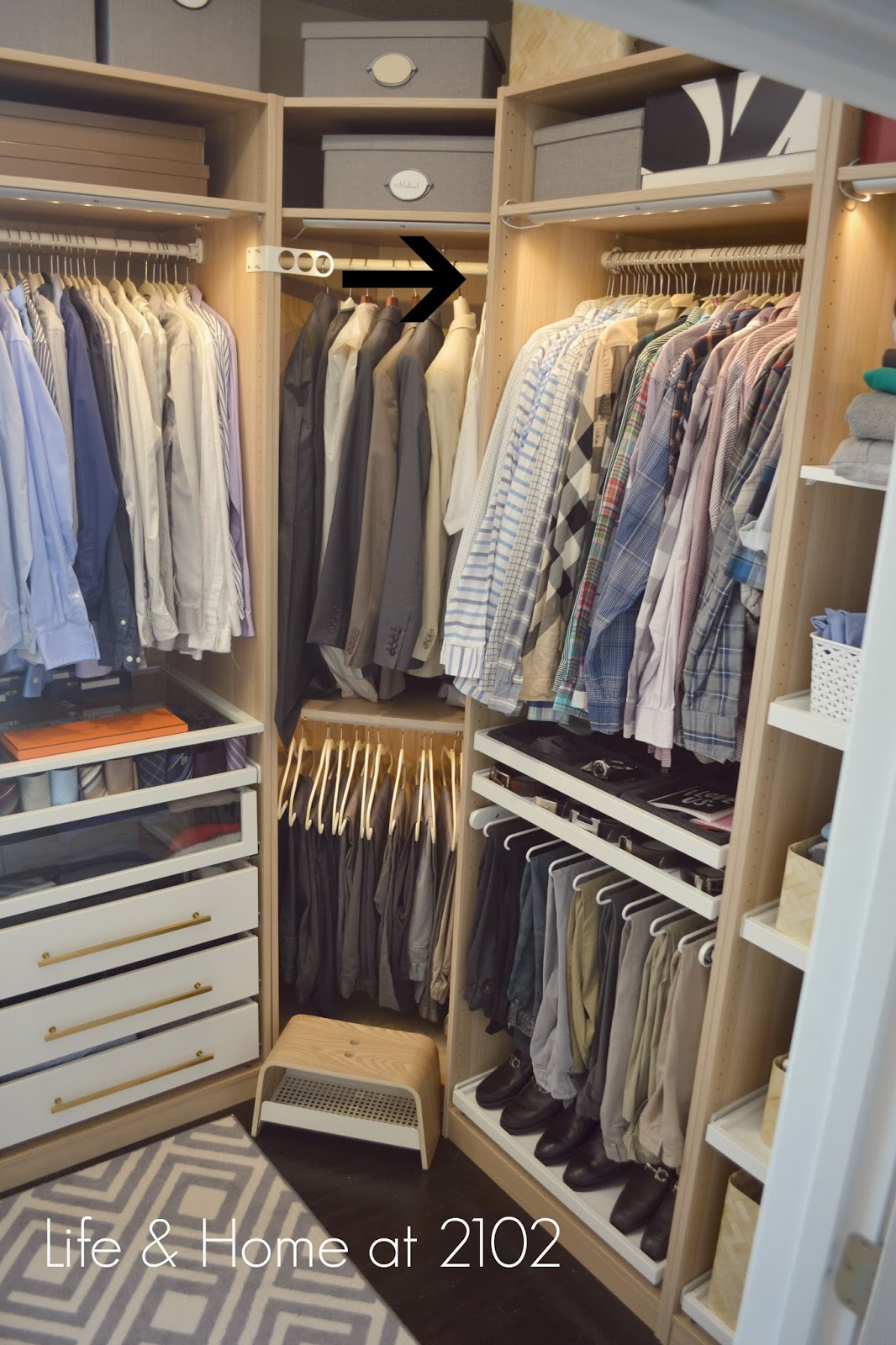 Life Amp Home At 2102 Guide To Building Your Own Closet Using The Ikea Pax System Design Details