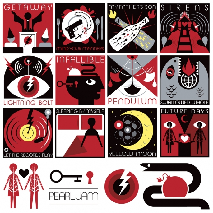 Who Did The Artwork For Pearl Jams Lightning Bolt Album Pearl