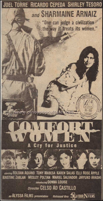 Celso Ad Castillo, Comfort Women: A Cry for Justice, directors, movies