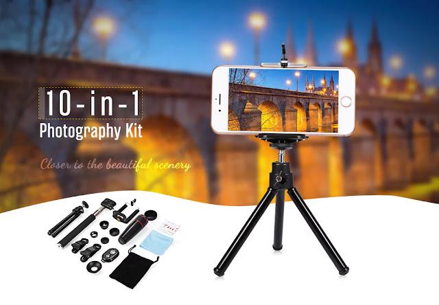 مراجعة لعدة تصوير بالهاتف كاملة بأزيد من 10 ادوات للتصوير بسعر جد زهيد !