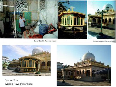 Lokasi Wisata Sejarah Kota Pekanbaru SUMUR TUA MESJID RAYA PEKANBARU