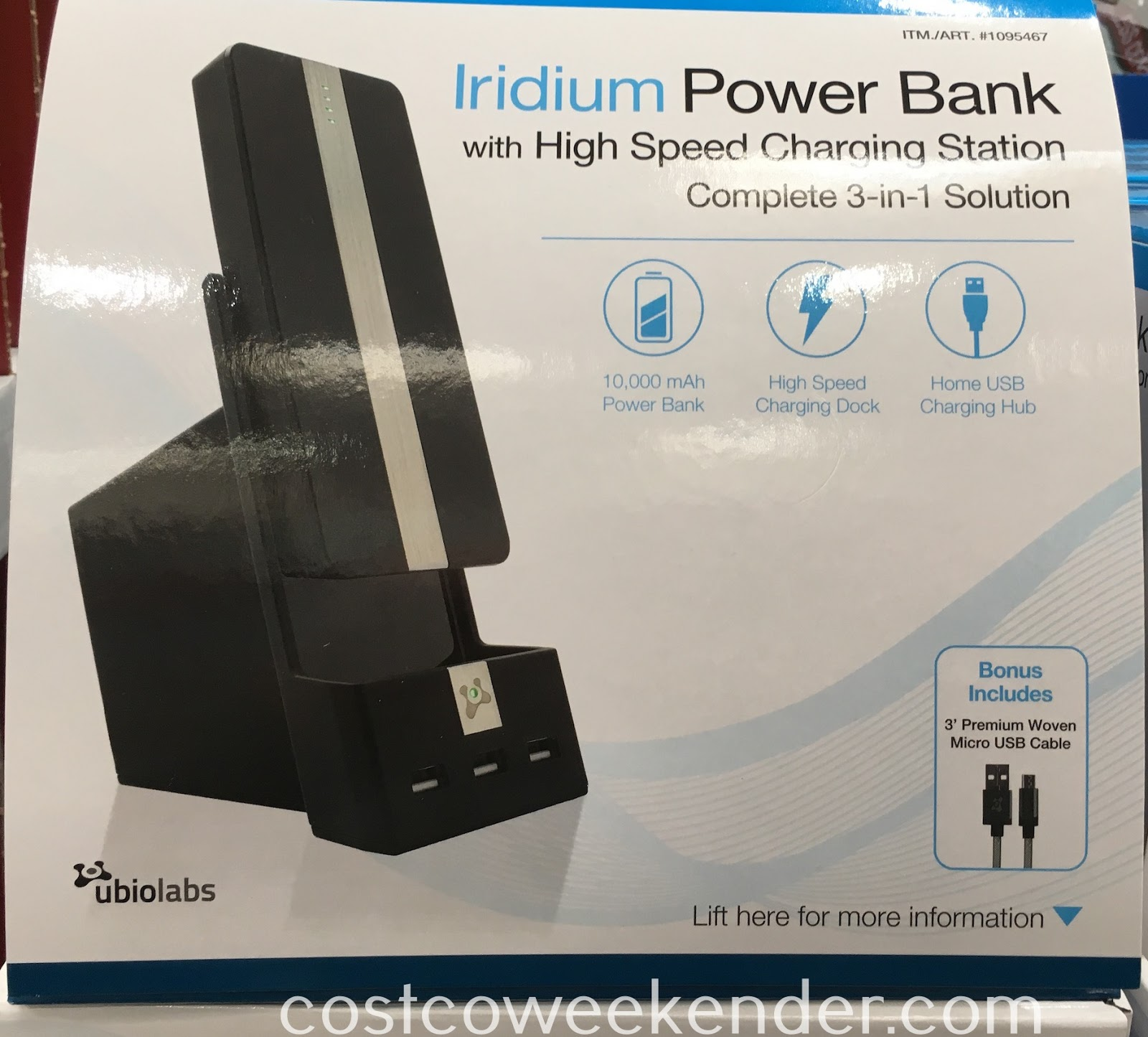 Charge your smartphone or tablet with the Ubio Labs Iridium Power Bank with High Speed Charging Station