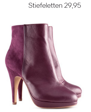 Burgundy Velour Boots H&M Fall 2012 Collection
