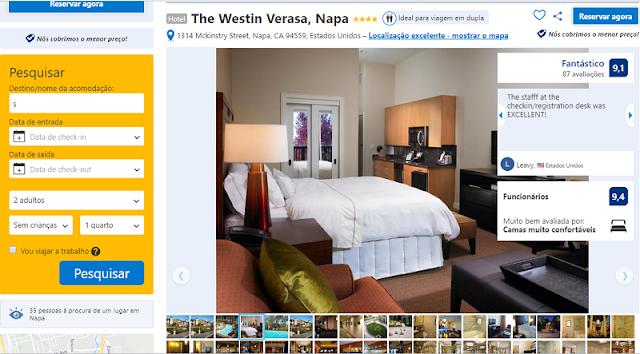 Estadia no Hotel The Westin Verasa em Napa Valley