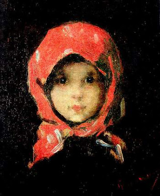 The Little Girl with Red Headscarf Nicolae Grigorescu