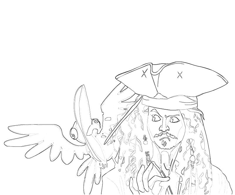 coloring pages jack sparrow - photo#29