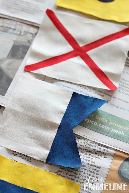 DIY Maritime Flag Bunting - #crafts #diy #nautical #bunting #maritime #flag
