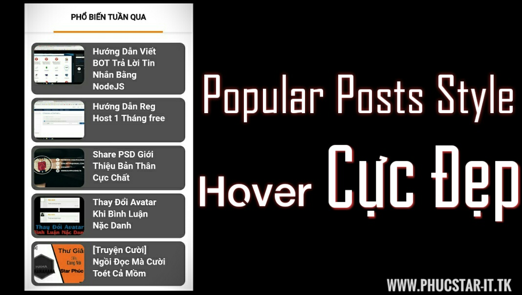 Share Popular Posts Style Cực Đẹp