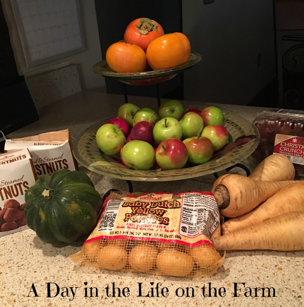A Day In The Life On The Farm Chestnut And Persimmon Cake Featuring Melissa S Produce