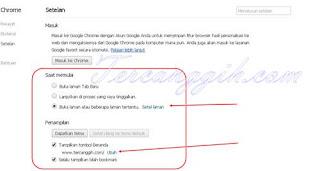 Mengganti Url Home Page Beranda Google Chrome