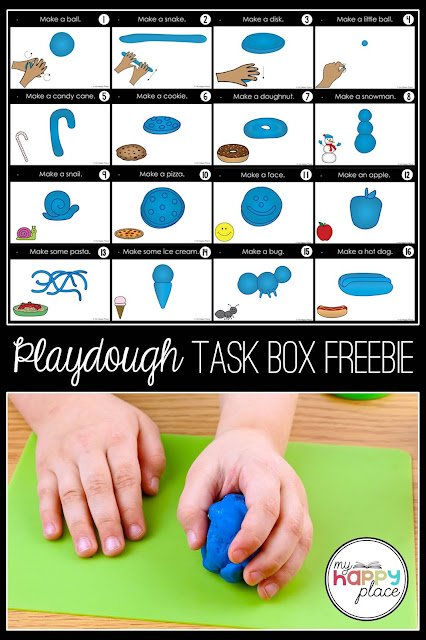 Fine Motor Skills Task Box Play-Doh Cards