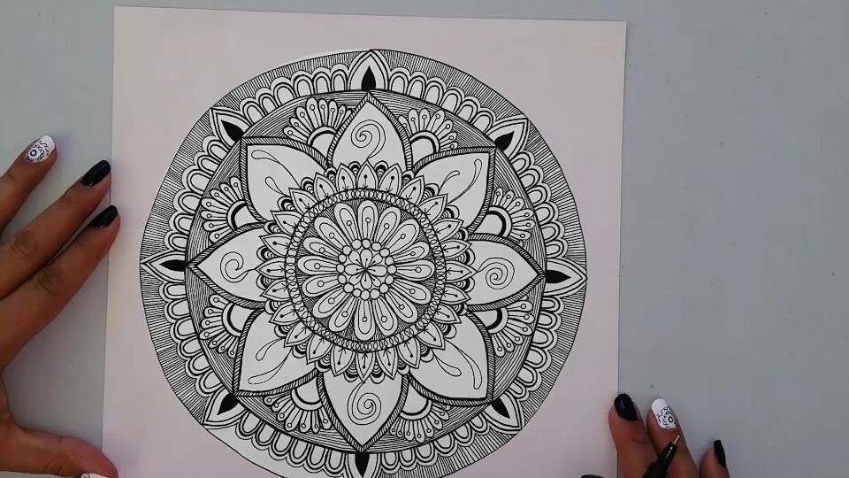 Dibujando Con Delein Como Hacer Una Libreta De Dibujo: Dibujando Con Delein: Como Dibujar Un Mandala Paso A Paso #1