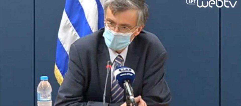 Μετά από 70 ημέρες ο Σ.Τσιόδρας φορώντας μάσκα έκανε ενημέρωση στους θνητούς