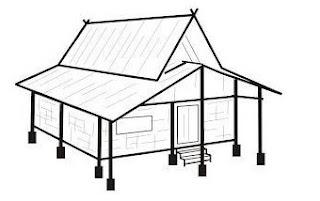 bentuk rumah adat sunda julang ngapak
