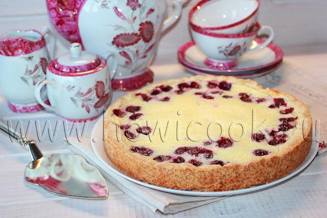 рецепт вишневого пирога со сметанной заливкой