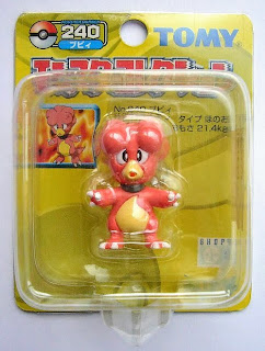 Magby Pokemon figure Tomy Monster Collection yellow package series