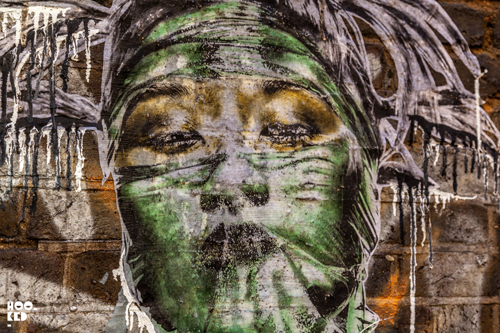 Eddie Colla, Street Art Wheatpastes in London. Photo ©Hookedblog / Mark Rigney