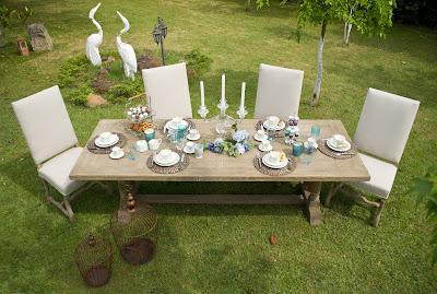 Mesa para fiesta en el jardín