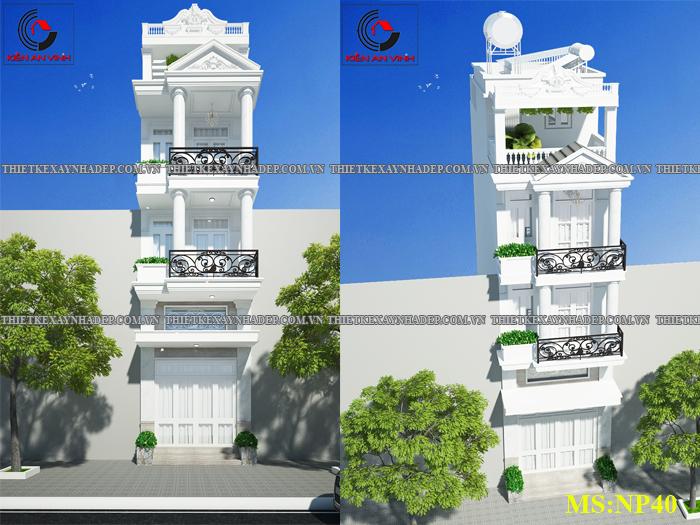 Mẫu thiết kế nhà 2 tầng 1 tum 5x12 bán cổ điển ở nông thôn Thiet-ke-nha-2-tang-1-tum-c